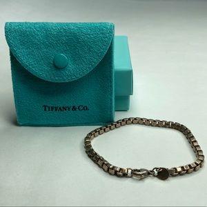 Vintage Tiffany & CO Sterling Box Chain Bracelet